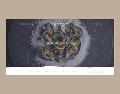 Ginger — Restaurant & Cafe Concept Website