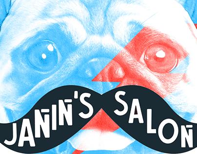 Janin's Men Salon Branding