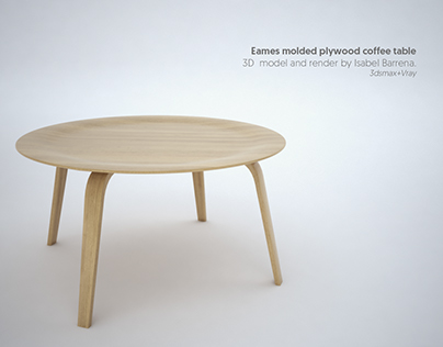 Eames molded plywood coffee table. 3dmodel+render