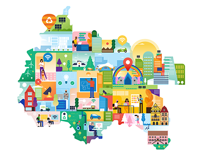 Google | Map illustration