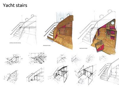 Yacht stairs, children playground