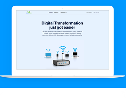Web site for IT company built with Webflow