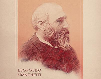 Barone Leopoldo Franchetti Cartolina celebrativa