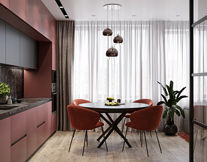Burgundy Apartment