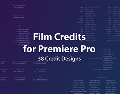 Film Credits Kit for Premiere Pro