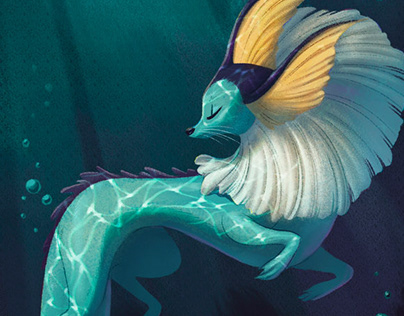 Vaporeon - Pokemon Redesign