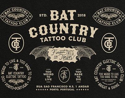 Bat Country Tattoo Club Branding design.