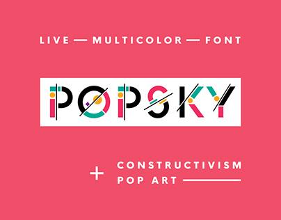 POPSKY — Multicolor SVG Font
