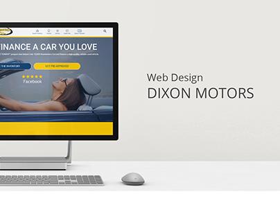 DIXON MOTORS | Web Design