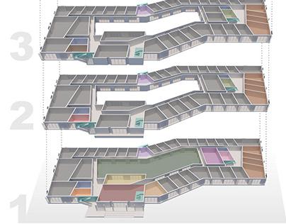 Educational building. Concept