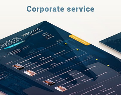 Corporative services web site