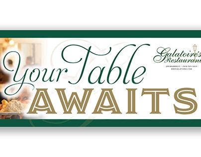YOUR TABLE AWAITS - Galatoire's Restaurant