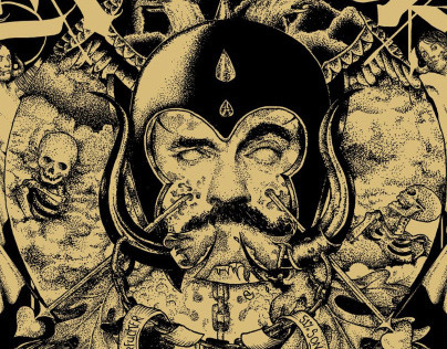 Illustration for Lemmy Kilmister-White Line Fever shirt