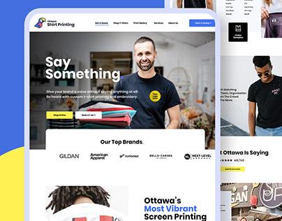 Ottawa Shirt Printing - Website Redesign