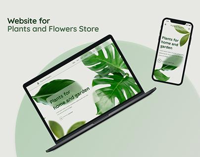 Plants & Flowers Store. Adaptive Web Design