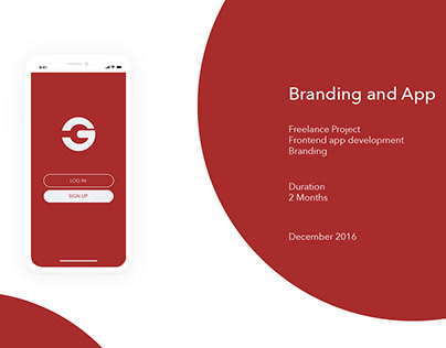 Freelance branding and UI/UX project - Garnet