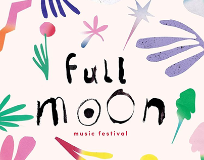 Full Moon Festival Artists Portraits & Logo