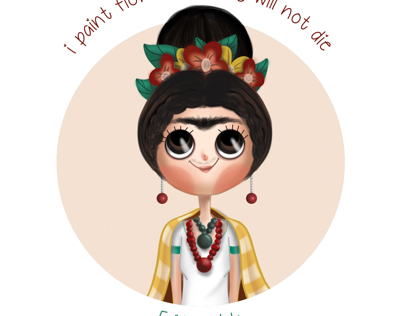 Frida Kahlo digital character