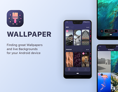 WALLPAPER Android App - UX/UI