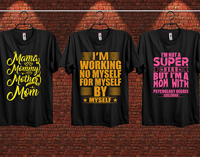 Morden Typography T Shirt Design Bundle