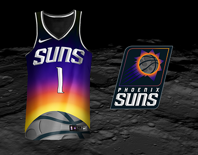 Phoenix Suns Solar Eclipse Day Jersey and Logo