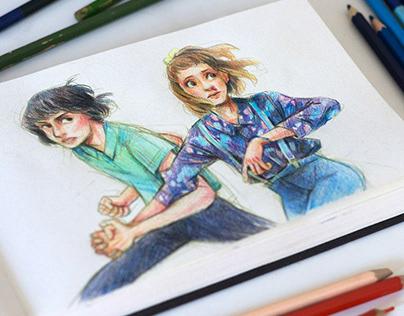 Stranger Things & Léon - Pencil drawings