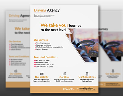 Driving Flyer Template