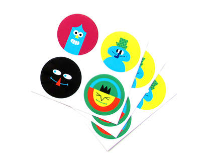 Sticker and Pin Set