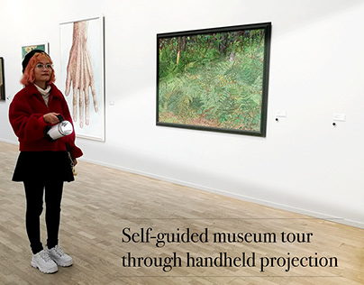 Storyboard: Handheld Projection in a Museum