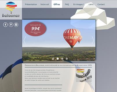Maquette site internet Balloonair