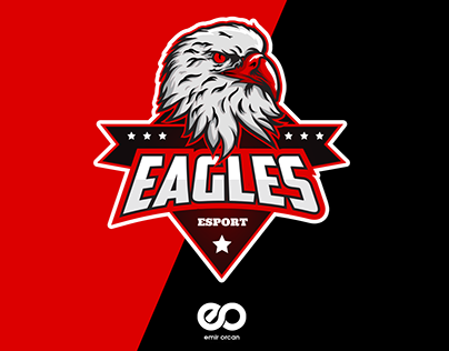 Eagle Mascot Esport Logo Design