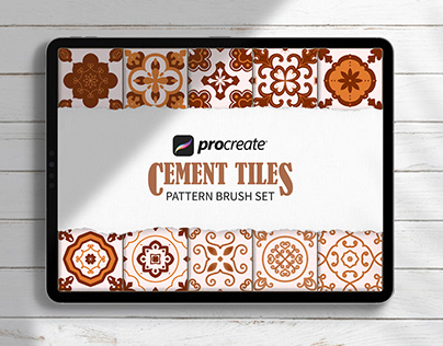 Cement Tiles Procreate Brushes