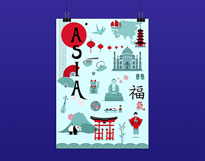 Poster Illustrations - Asia and South America