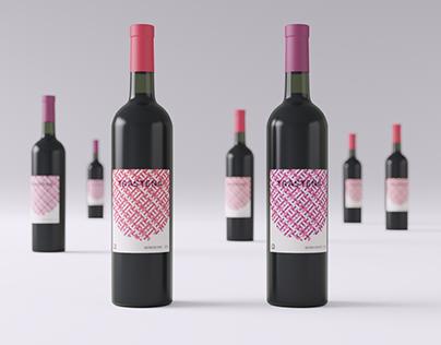 TRASTENA - Raspberry wine Label Design