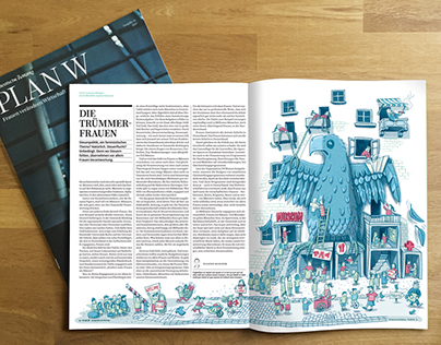 Editorial Illustration about volunteering
