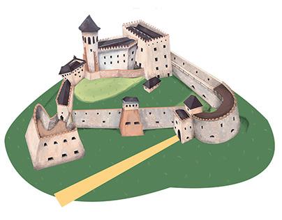 How was castle Stara Lubovna build