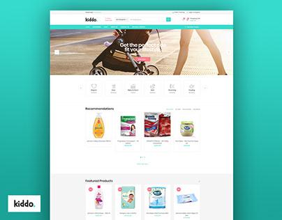 Kiddo – Baby & Kids Shop - Website Design & Development