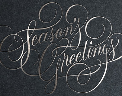 Hallmark Holiday Lettering