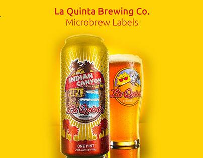 La Quinta Brewing Co. Beer Can & Medallions
