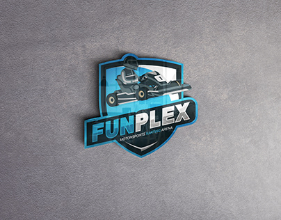 Funplex Go Karting Logo Design