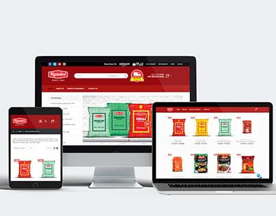 Ramdev - Website design & development for food store