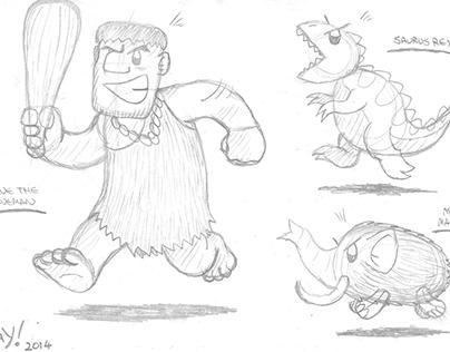 Concept sketchbooks 2: Cavepunk!