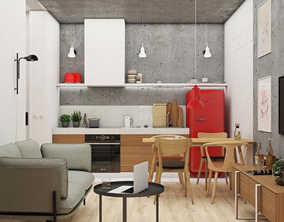 Studio apartment for architect