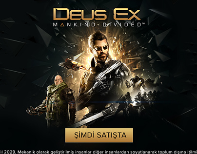 Deus-ex Landing Page