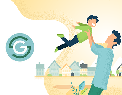Webdesign of the home page GreenAlp