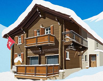 Custom Ski Chalet illustration