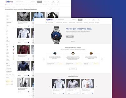 Online Marketplace - Minimalist Design
