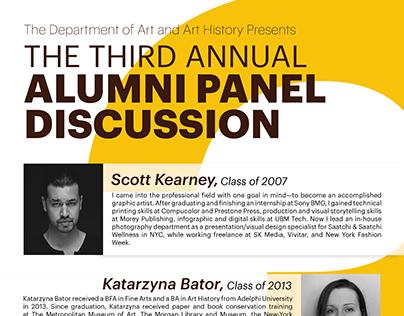 Alumni Panel Discussion Poster: Freelance