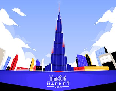 Video mapping on Burj Khalifa