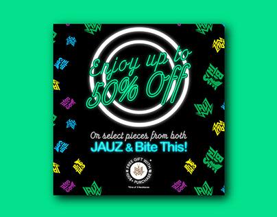 Jauz Black Friday Sale Promotional Assets